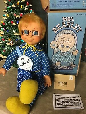 Mattel Mrs Beasley Doll. 1967' Box/tags