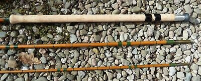 Vintage Split Cane Rod J.s. Sharpe Aberdeen 3 Piece Double Handed  Immaculate !