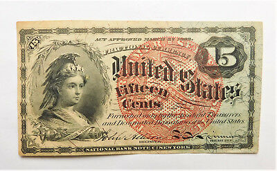 NO RESERVE United States Fractional Currency 15 Cents Note