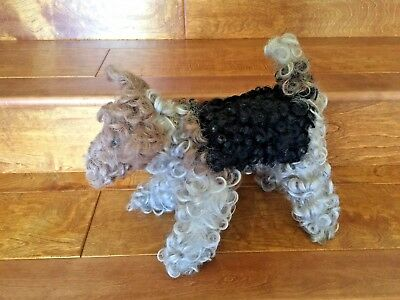 Curly Hair Stuffed Airedale Terrier Dog