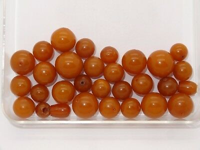 Amber Pressed Baltic Egg Yolk Butterscotch Amber Beads