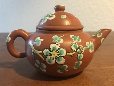 Antique Chinese / Oriental Terracotta Miniature Teapot