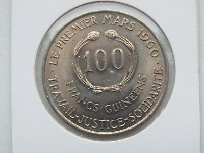 Guinee 100 Francs 1960 Guinea 100 Francs 1971 UNC EXTREMELY SCARCE RARE