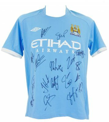 Manchester City Signed Historic Fa Cup Winners Football Shirt 2011 + *coa*