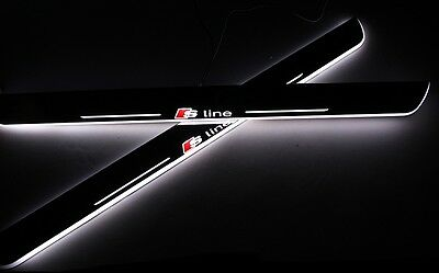 Audi S Line White Illuminated Led Front Sills For Audi A4 A5 Coupe Convertible