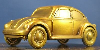 * Vtg Volkswagen Vw Bug Original 1977 Metal Savings Piggy Bank Banthrico Chicago