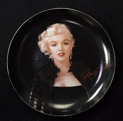 """""""Bewitching in Black"""" Marilyn Monroe Collectible Plate"""
