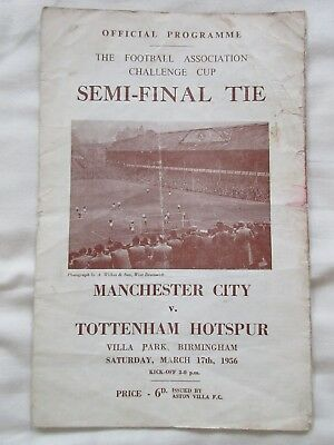Manchester City v Tottenham Hotspur - FA Cup Semi-Final - 17 March 1956