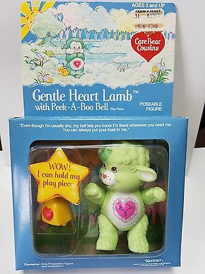 Vintage GENTLE HEART LAMB w/ Accessory Care Bear Poseable * MINT In BOX * Cousin