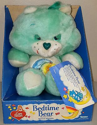 "Vintage 13""  BEDTIME Care Bear Plush Toy Kenner MINT In BOX with Tags NRFB"