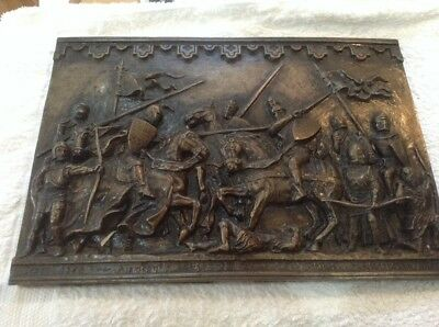 Battle Of Crecy Plaque - Edward 3Rd Black Prince Resin