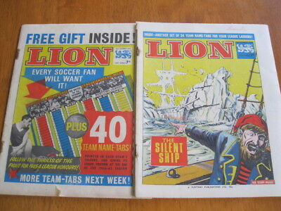 2 LION comics from 23rd Oct and 6th Nov 1965 with Spider, Maroc the Mighty etc