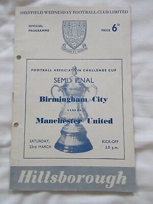 Birmingham City v Manchester United - FA Cup Semi-Final - 23 March 1957