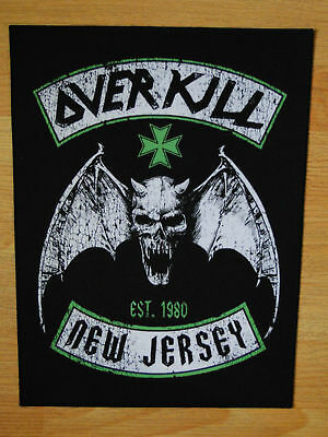 OVERKILL New Jersey BACK PATCH printed NEW thrash metal