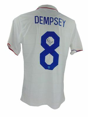 Clint Dempsey Signed Usa World Cup Football Shirt + Photo Proof *see Him Sign*