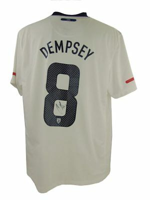 Clint Dempsey Signed Usa Football Shirt + *coa*