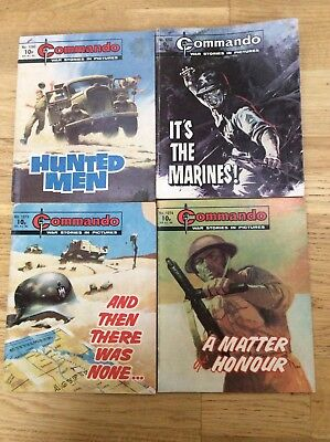 4 Commando comics from 1978 very rare