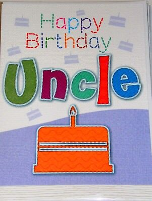 STUNNING UNCLE BIRTHDAY CARDS x 12, JUST 27p,  'STITCHES' TEXTURED WRAPPED