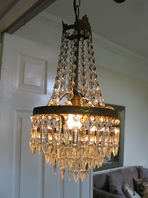 lovely french crystal chandelier