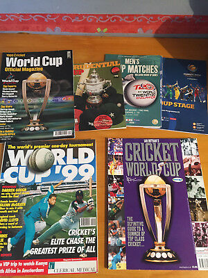 1979-2013 6 x One Day Competition Programmes World Cup & Champions trophy