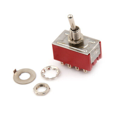 MTS-402 6A/125VAC 2A/250VAC 12 Pin 4PDT ON/ON 2 Position Mini Toggle Switch LE