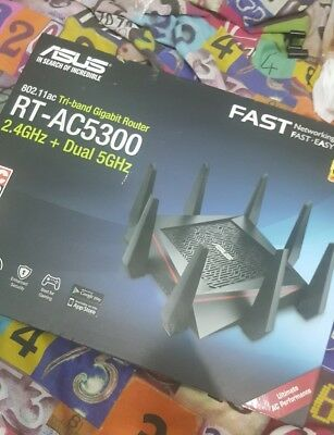 ASUS RT-AC5300 5334 Mbps Wireless AC Router 90lg0202-bu9g00 used gaming router