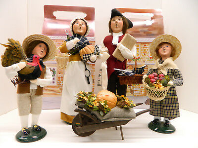 Set of 4 Byers Choice Thanksgiving dolls, UFDC 305-2017