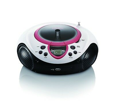 Tragbarer CD-/MP3-Player | Lenco SCD-38 pink | UKW-Radio | CD/MP3 | USB