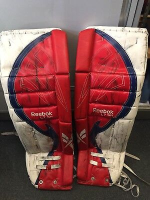 "Adult Senior Size 35"" + 1"" Reebok L7 Sr Ice Hockey Goalie Leg Pads"