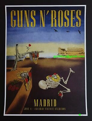 Guns N' Roses Lithograph Poster Madrid 2017 Limited Edition 250