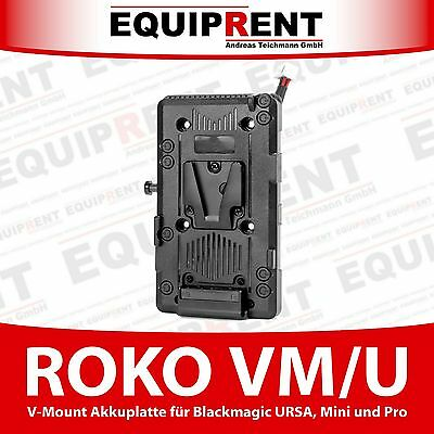 ROKO VM/U V-Mount Akku Adapter Platte für Blackmagic URSA / Mini / Pro (EQZ53)