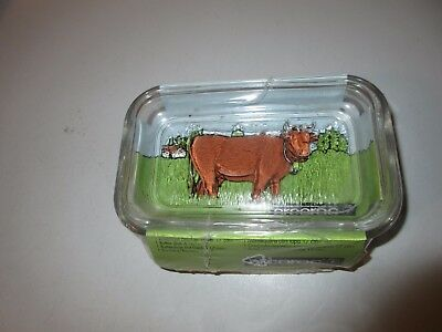 new arcoroc glass butter dish. france