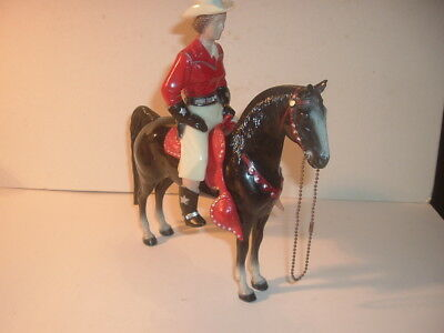 1950s Red / White Western Champ Lady 800 Series Hartland Statue and Horse
