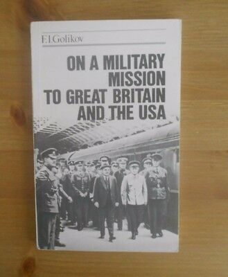 USSR PRINTED WW2 BOOK IN ENGLISH MILITARY MISSION USA golikov