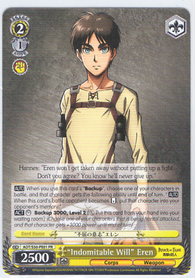 "Weiss Schwarz Attack on Titan Vol.2 ""Indomitable Will"" Eren AOT/S50-PE01"