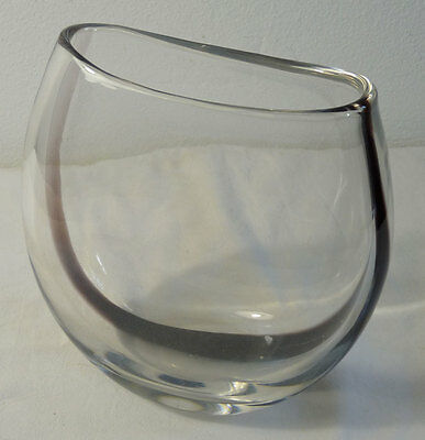 Glass Object, Vase, Vicke Lindstrand for Kosta, Sweden