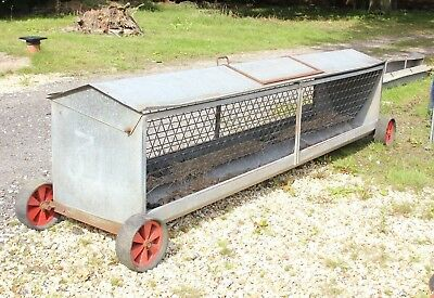 10ft Mobile Sheep Lamb Goat Hay Rack With Feed Troughs Good condition