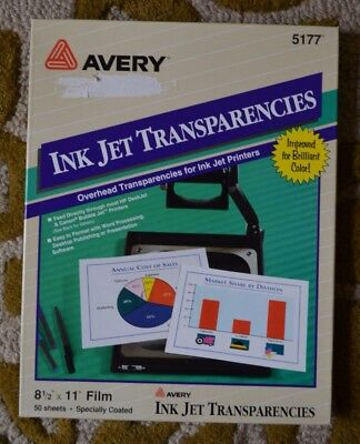Avery Ink Jet Transparency 5177, 20, Printable Transparency- Projector or Crafts