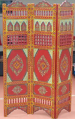 RED Moroccan Room Wood Divider Screen Partition Panel Wall   Separation