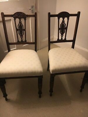 Pair Of Antique Occasional/bedroom Chairs