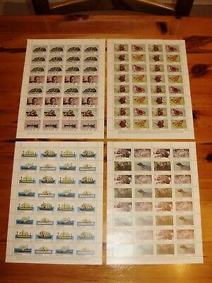 GB British Local Steep Holm Complete Sheets of ALL FOUR ISSUES Perforated MNH