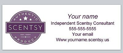 Personalized address labels Scentsy Buy 3 get 1 free (xco 951)