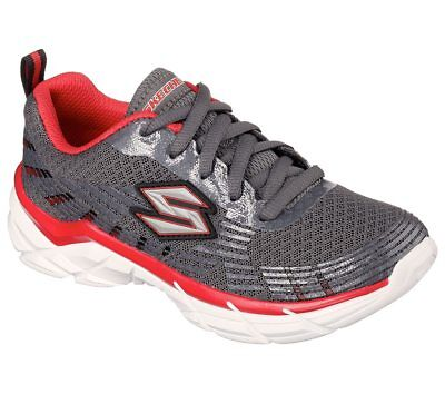 New Youth Skechers Rive Seize Shoe Style 95242L Charcoal/Red 128Q tr