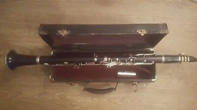 Rare Vintage Martin Freres Bb 1740 Wooden Clarinet Fully Serviced