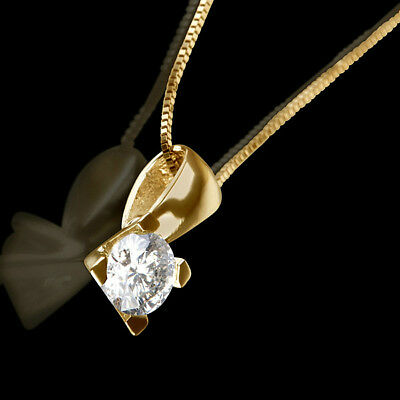 1 1/2 Ct Authentic Round Cut Diamond 14K Yellow Gold Proposal Pendant Necklace