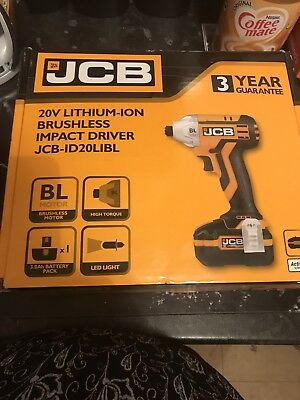 JCB 20v Lithium-ion Brushless Impact Driver