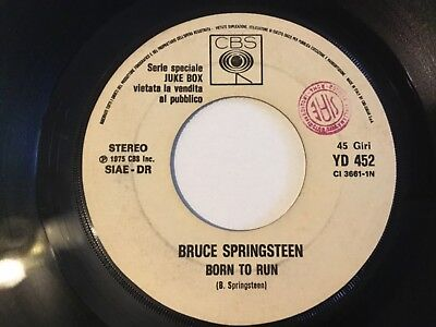 Bob Dylan / Bruce Springsteen White Label Promotional 45 Jukebox Issue Italy