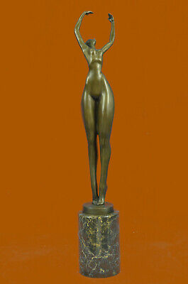 Abstract Ballerina Lost Wax Bronze Figurine by Juno Art Statue Sculpture Figure