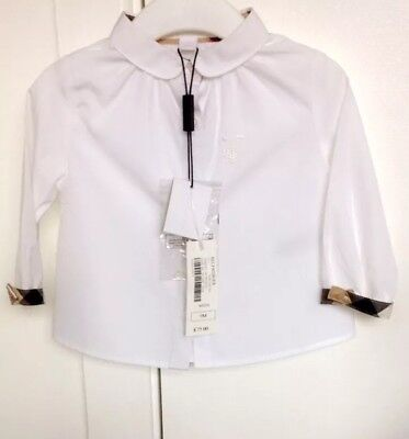 Baby girl burberry white shirt