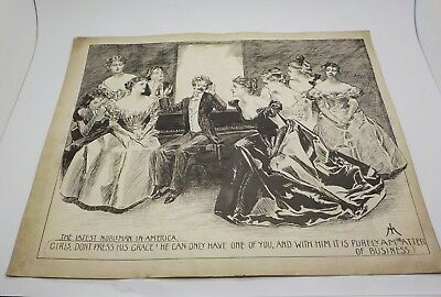 THE LATEST NOBELEMAN IN AMERICA  - c1898 Signed Isaac Makin *Salford*